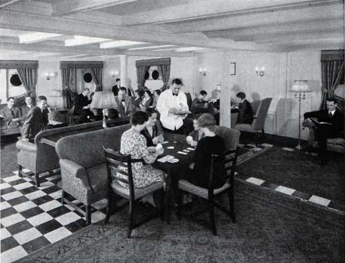 Passenger Lounge on the Promenade Deck