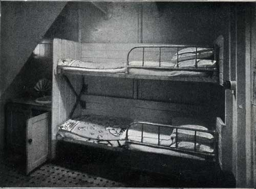 "THIRD CLASS BEDROOM WITH TWO BERTHS, STEAMSHIP "" NEW ENGLAND."""