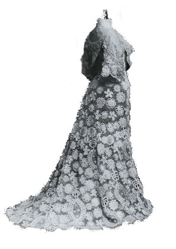Irish Industry Lace Dress 1907