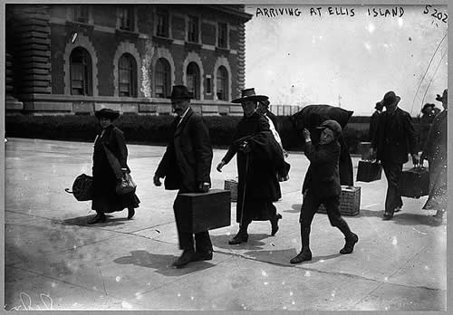 Immigrants Arrival at Ellis Island in 1907