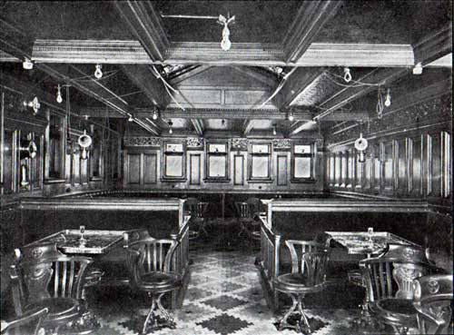 First Cabin Smoking Room, SS. Oscar II, Hellig Olav and United States
