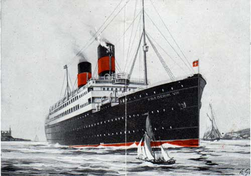 Illustration of the Steamship Frederik VIII