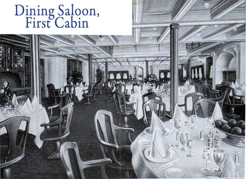 Dining Dining Saloon, First Cabin