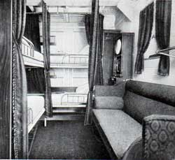 "four berth room - second cabin stateroom on ""Frederik VIII."""