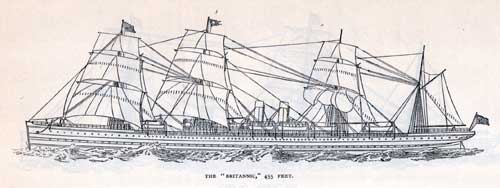 The Steamship Britannic - 455 Feet