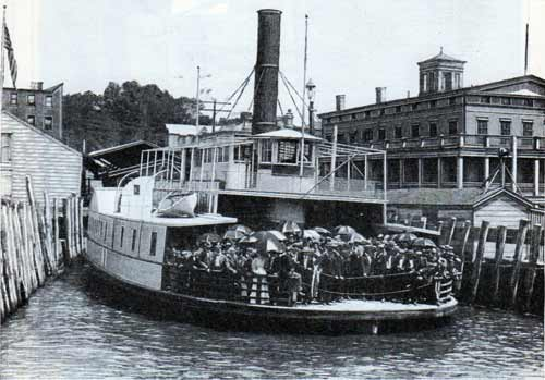 Hudson River Steam Ferry Boat