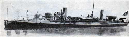 The torpedo boat Cushing