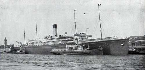 RMS Arabic - Largest, Fastest Steamer - Boston Trade
