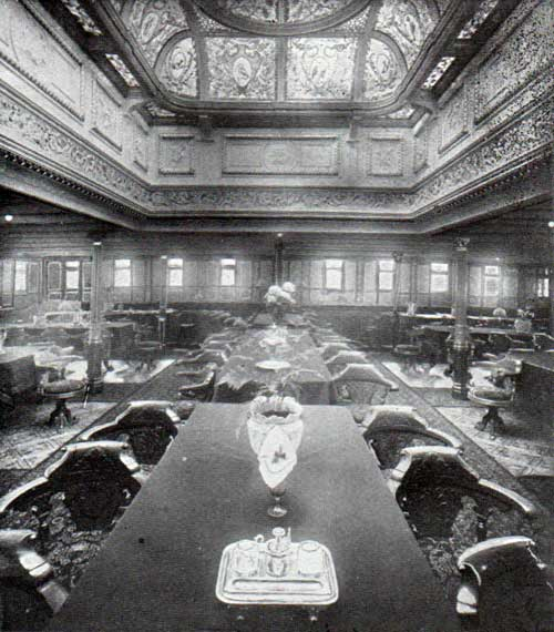 R.M.S. Romanic First Class Dining Saloon